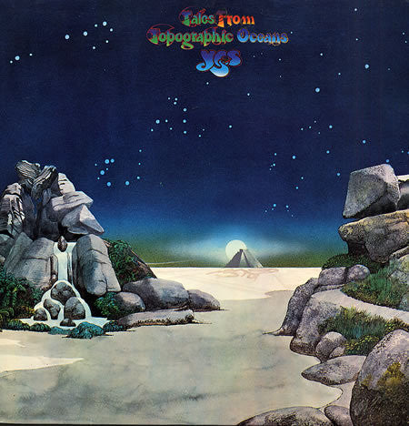 YES-TALES FROM TOPOGRAPHIC OCEANS 2LP NM COVER VG+
