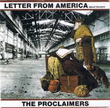 "PROCLAIMERS THE-LETTER FROM AMERICA 12"" EX COVER EX"