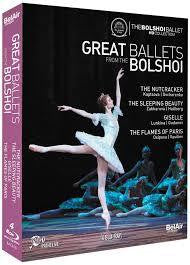 GREAT BALLETS FROM THE BOLSHOI 4DVD *NEW*