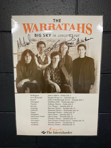 WARRATAHS THE-BIG SKY IN CONCERT AUTOGRAPHED LAMINATED ORIGINAL TOUR POSTER