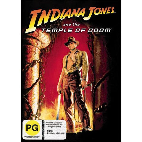 INDIANA JONES AND THE TEMPLE DOOM DVD VG+