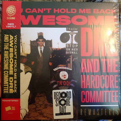 AWESOME DRE & THE HARDCORE COMMITTEE-YOU CAN'T HOLD ME BACK RED VINYL LP *NEW*