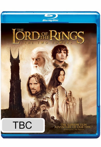 LORD OF THE RINGS-THE TWO TOWERS BLURAY VG+