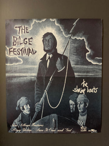 THE BILGE FESTIVAL-THE SHRIMP BOATS ORIGINAL PROMO POSTER