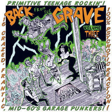 BACK FROM THE GRAVE VOLUME THREE-VARIOUS ARTISTS LP *NEW*