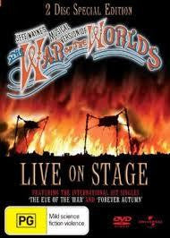 WAR OF THE WORLDS MUSICAL VERSION LIVE ON STAGE 2DVD VG