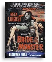BRIDE OF THE MONSTER DVD VG
