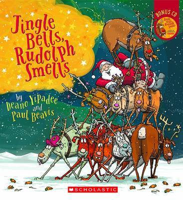 JINGLE BELLS, RUDOLF SMELLS BOOK & CD *NEW*