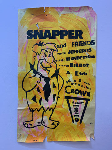 SNAPPER AND FRIENDS HAND-PAINTED ORIGINAL GIG POSTER