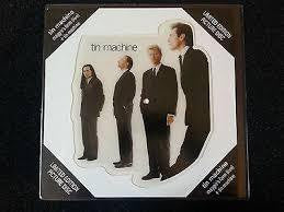 "TIN MACHINE-MAGGIE'S FARM (LIVE) SHAPEPED 7"" PICTURE DISC EX COVER VG+"