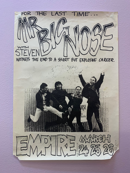 MR BIG NOSE WITH STEVEN ORIGINAL EMPIRE GIG POSTER
