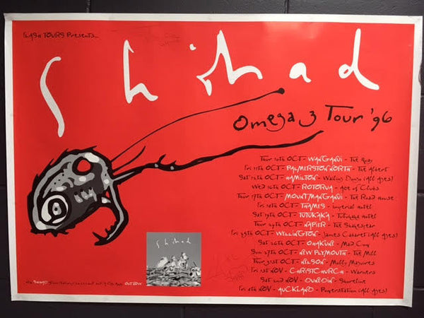 SHIHAD OMEGA 3 ORIGINAL TOUR POSTER 96 - LARGE AUTOGRAPHED
