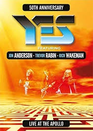 YES-50TH ANNIVERSARY LIVE AT THE APOLLO DVD *NEW*