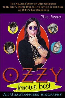 OSBOURNE OZZY-OZZY KNOWS BEST NICKSON BOOK VG
