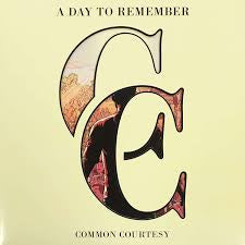 A DAY TO REMEMBER-COMMON COURTESY CREAM/ GREY SPLATTER VINYL 2LP NM COVER G