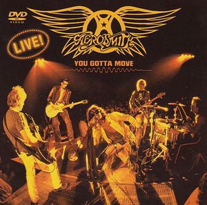 AEROSMITH-YOU GOTTA MOVE DVD VG+