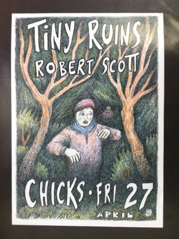 TINY RUINS ROBERT SCOTT-CHICKS A3 POSTER *NEW*