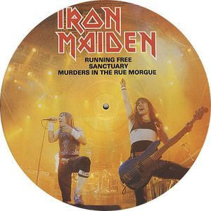 "IRON MAIDEN-RUNNING FREE 12"" PICTURE DISC NM"