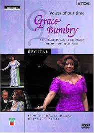 BUMBRY GRACE-RECITAL VOICES OF OUR TIME DVD *NEW*
