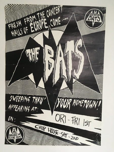 BATS THE-SWEEPING THRU' YOUR HOMETOWN! ORIGINAL GIG POSTER
