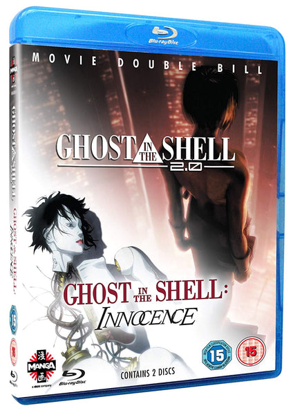GHOST IN THE SHELL 2.0 + GHOST IN THE SHELL INNOCENCE 2BLURAY VG+