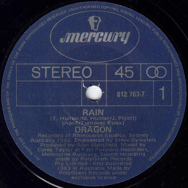 DRAGON-RAIN 7'' SINGLE VG