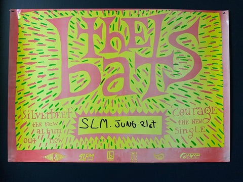 BATS THE-SILVERBEET THE NEW ALBUM ORIGINAL GIG POSTER