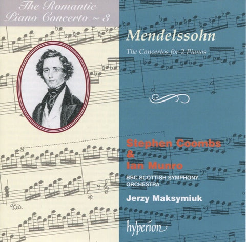 MENDELSSOHN-THE CONCERTOS FOR 2 PIANOS STEPHEN COOMBS & IAN MUNRO CD VG