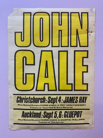 CALE JOHN ORIGINAL NEW ZEALAND TOUR POSTER