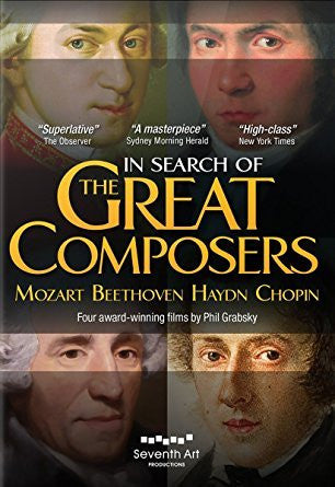 IN SEARCH OF GREAT COMPOSERS: MOZART/BEETHOVEN/HAYDN/CHOPIN DVD *NEW*