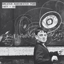 GREATER MANCHESTER PUNK 1977-81-VARIOUS ARTISTS CLEAR/ BLUE SPLATTER VINYL LP *NEW*