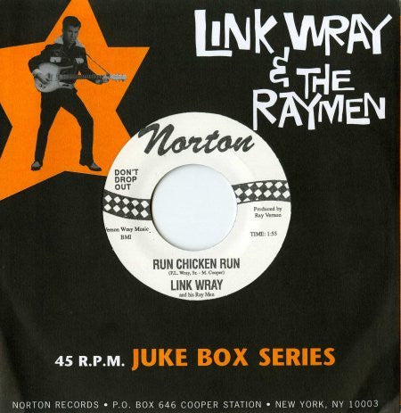 "WRAY LINK AND THE RAYMEN-RUN CHICKEN RUN 7"" *NEW*"