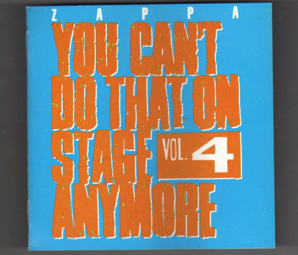ZAPPA FRANK-YOU CAN'T DO THAT OON STAGE ANYMORE VOL.4  2CD VG
