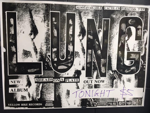 LUNG 3 HEADS ON A PLATE TOUR POSTER