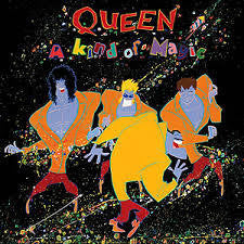 QUEEN-A KIND OF MAGIC ORANGE VINYL LP NM COVER VG+