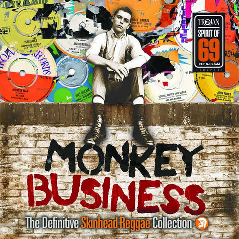 MONKEY BUSINESS THE DEFINITIVE SKINHEAD COLLECTION-VARIOUS ARTISTS 2LP *NEW*