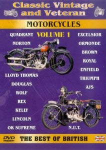 CLASSIC VINTAGE AND VETERAN MOTORCYLCES VOL 1 DVD VG