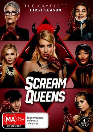 SCREAM QUEENS THE COMPLETE FIRST SEASON 4DVD VG+