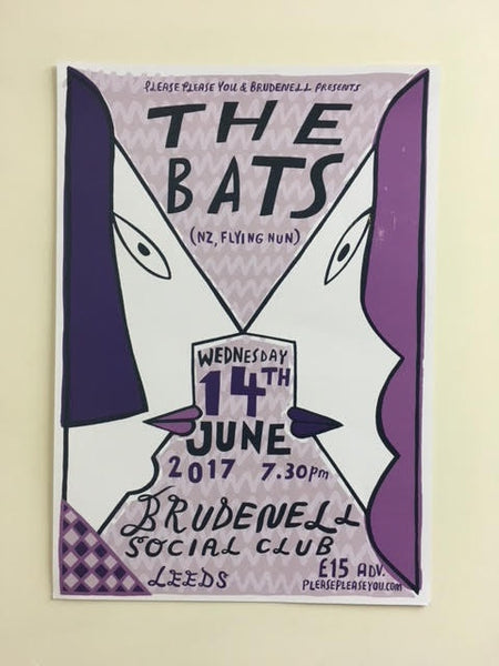 BATS THE-LEEDS UK ORIGINAL TOUR POSTER