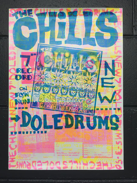 CHILLS THE-DOLEDRUMS ORIGINAL PROMO POSTER