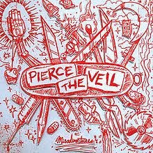 PEIRCE THE VEIL-MISADVENTURES WHITE VINYL LP  NM COVER EX