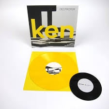 "DESTROYER-KEN YELLOW VINYL LP +7"" NM COVER EX"