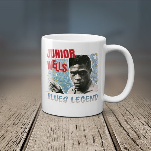 WELLS JUNIOR-BLUES LEGEND MUG *NEW*