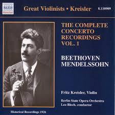 BEETHOVEN MENDELSSOHN - COMPLETE CONCERTO RECORDINGS VOL. 1 CD G
