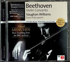 BEETHOVEN WILLIAMS-YEHUDI MENUHIN CD VG