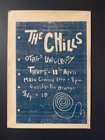 CHILLS THE- OTAGO UNIVERSITY WITH ORANGE ORIGINAL GIG POSTER