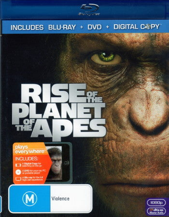 RISE OF THE PLANET OF THE APES BLURAY+DVD VG