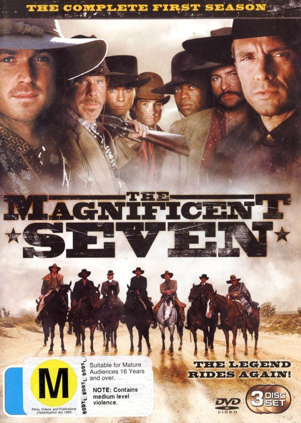 THE MAGNIFICENT SEVEN SEASON ONE 3DVD VG