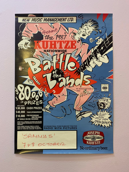 BATTLE OF THE BANDS 1987 ORIGINAL GIG POSTER