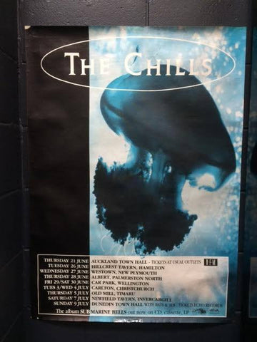 CHILLS THE-SUBMARINE BELLS TOUR ORIGINAL GIG POSTER